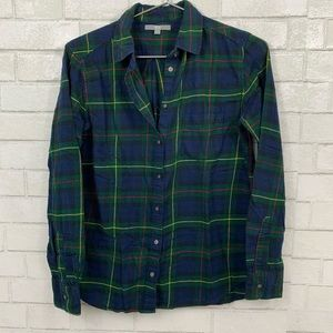 🍍UNIQLO PLAID SHIRT GREEN , YELLOW, & RED MEDIUM